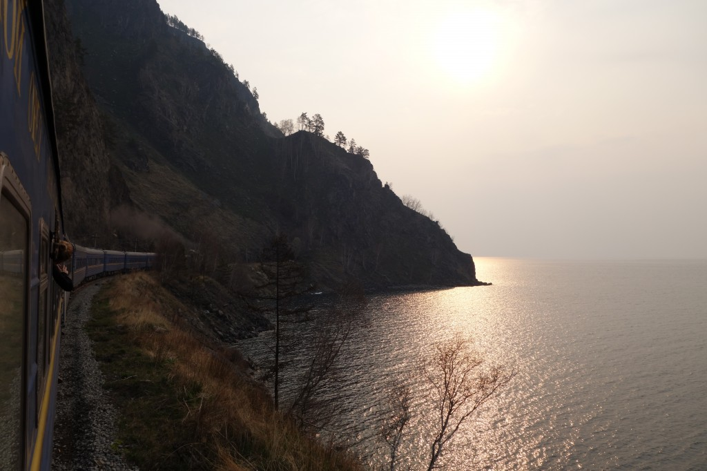 Sunrise over lake Baikal, trans-Siberian express, © Patrick Avery