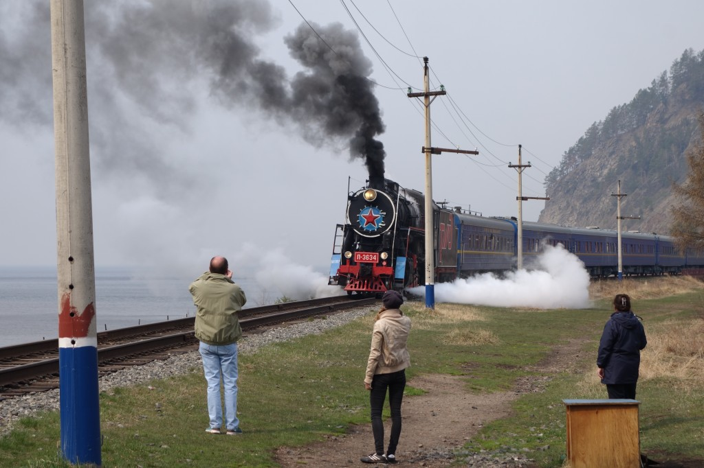 Steam loco, trans-Siberian express © Patrick Avery